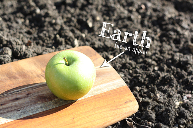 Step 1: Earth As an Apple Earth Day Activity