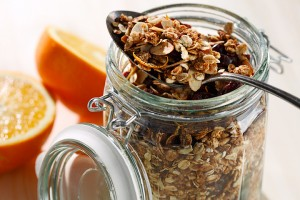 Whole Grain Heart Healthy Granola made using canola oil