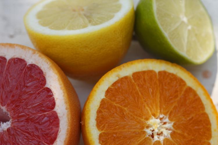 Citrus Fruits; Orange, Lemon, Lime, Grapefruit.