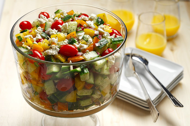 Greek Salad Heart and Stroke Approved | www.canolarecipes.ca