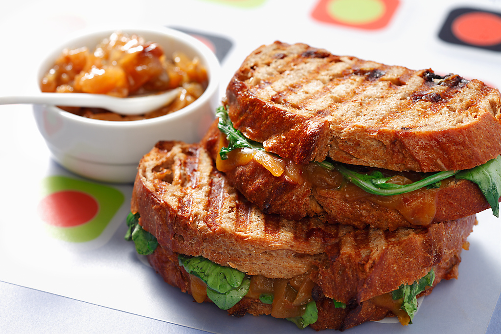 Apple Chutney Grilled Cheese Sandwich