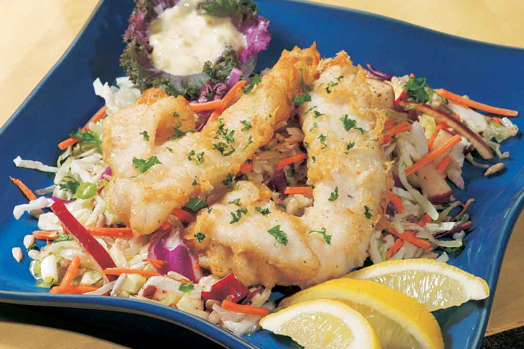 how to cook beer battered flathead