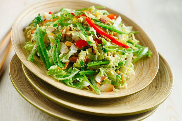 Asian-Style Cabbage Slaw