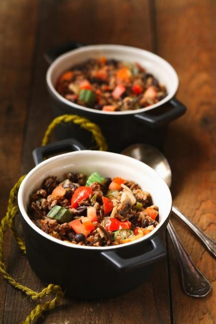 Beef, Beans and Wild Rice Salad