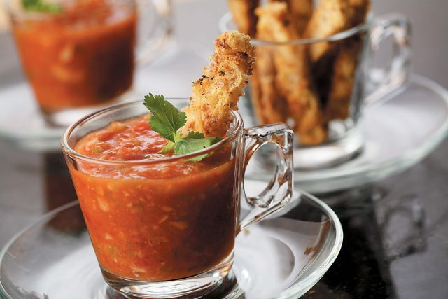 Gazpacho with Multi-Grain Croutons
