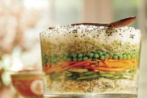 Layered Sushi Salad