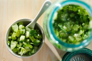 Tomatillo Cucumber Lime Salsa