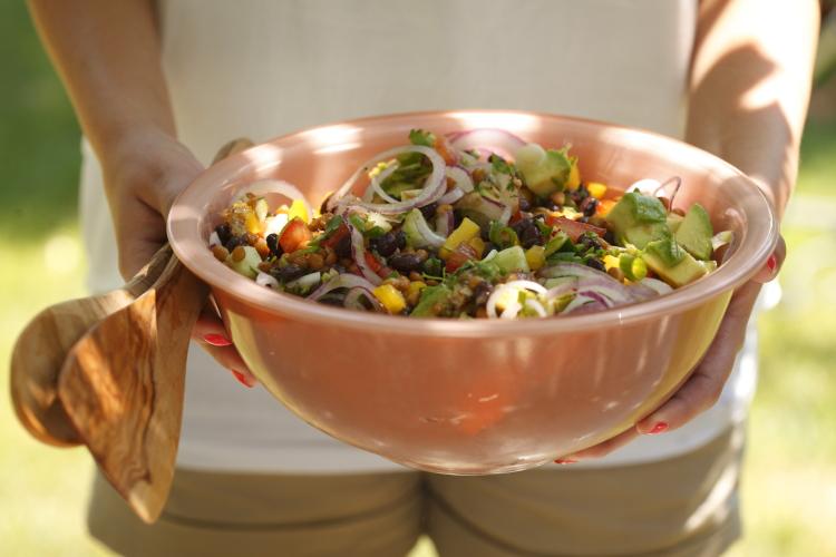 Black Bean and Lentil Salad with Chili-lime Vinaigrette