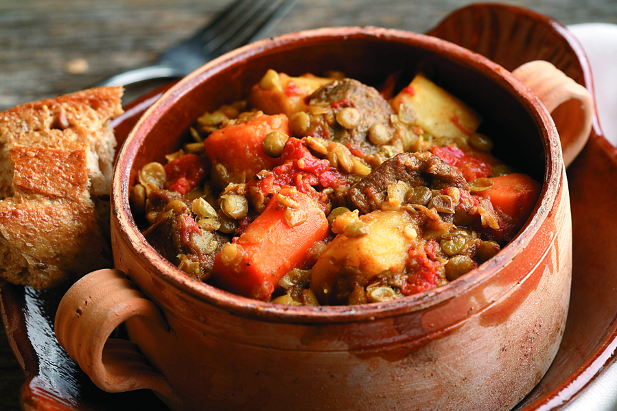Curried Lamb, Lentil & Root Vegetable Stew