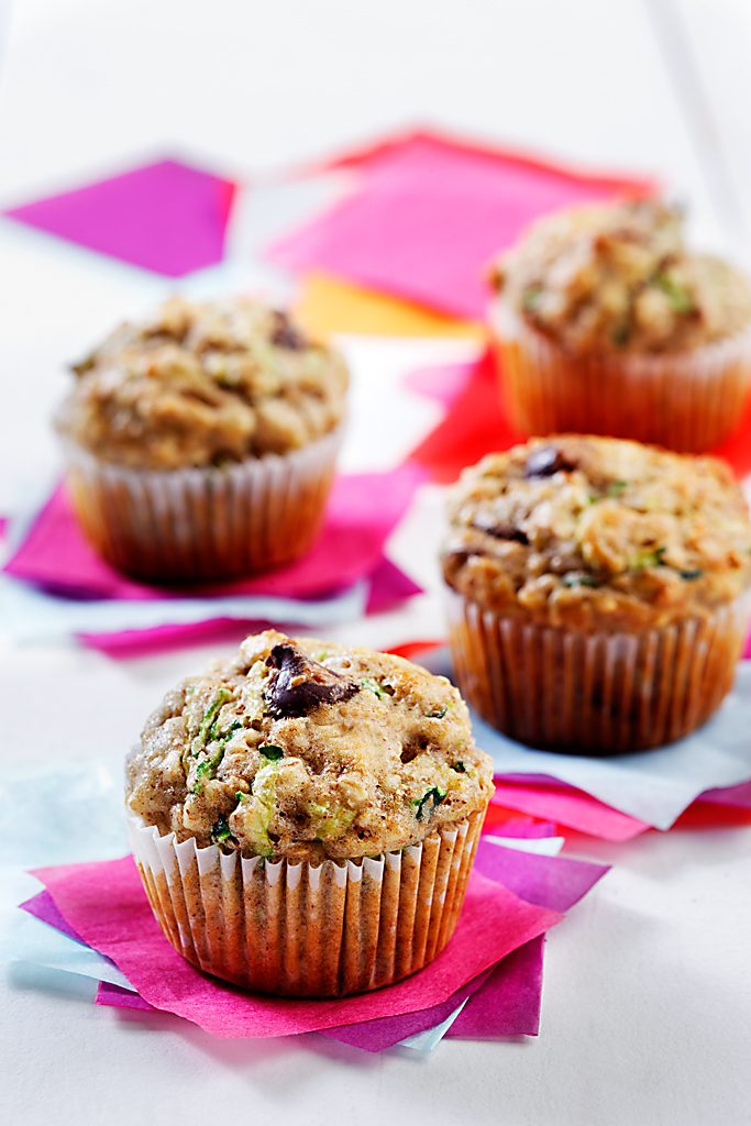 Mini Zucchini Chocolate Chip Muffins