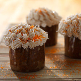 Pumpkin Cupcakes with Spiced Cream Cheese Icing