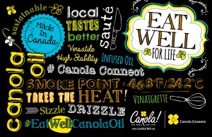 canola eat well word art foodie | www.canolaeatwell.com