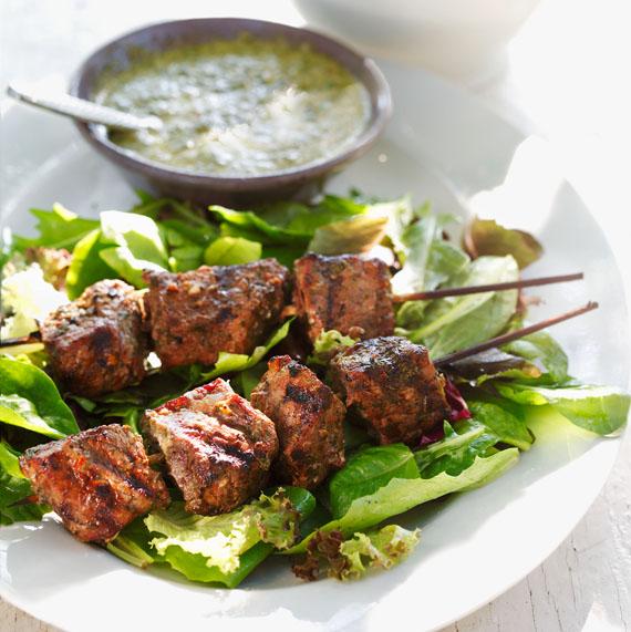 Grilled Chimichurri Beef Kebabs