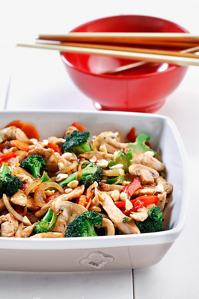 Chicken Stir-Fry with Peanuts