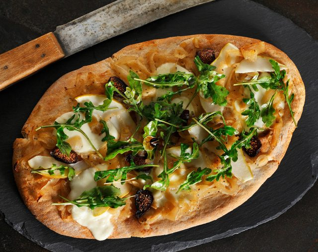 Fig, Pear and Caramelized Onion Flatbread