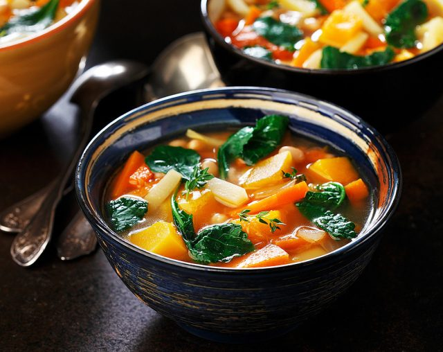 Hearty White Bean, Kale and Root Vegetable Soup