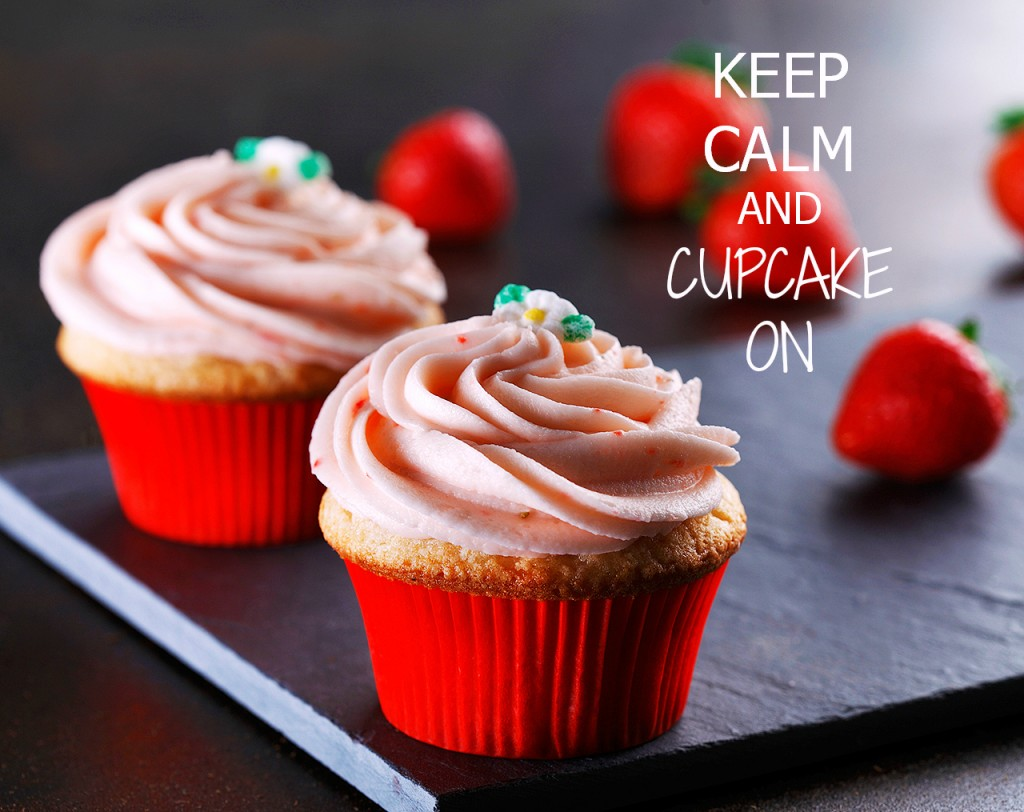 Strawberry Cupcake Keep Calm | www.canolaeatwell.com
