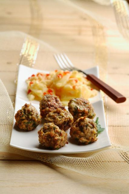 Turkey Meatballs with Braised Apples