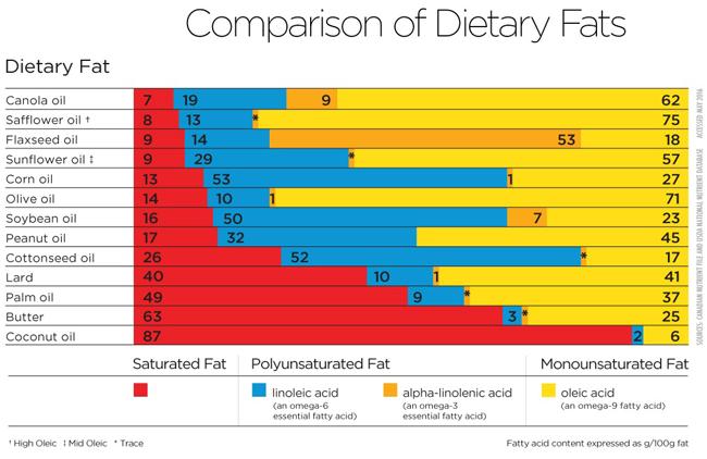 Good fats chart