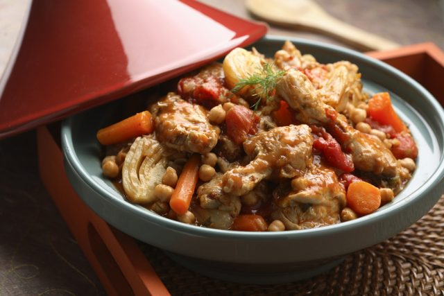 Chicken Tagine with Fennel and Chickpeas