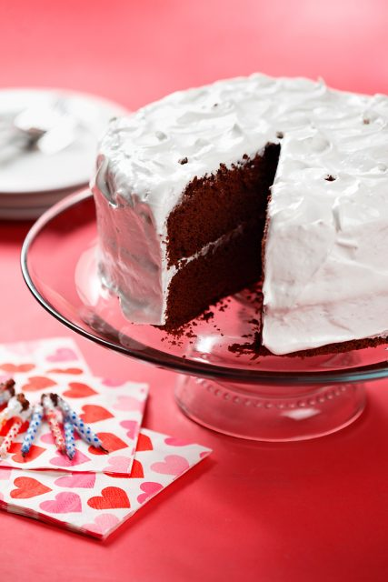 Gluten Free Chocolate Chiffon Cake with Seven Minute Icing