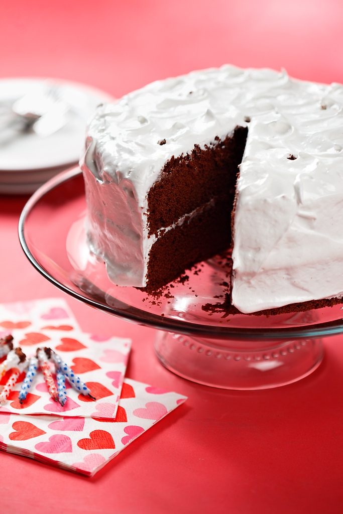 Gluten Free Chocolate Chiffon Cake with Seven Minute Icing ...