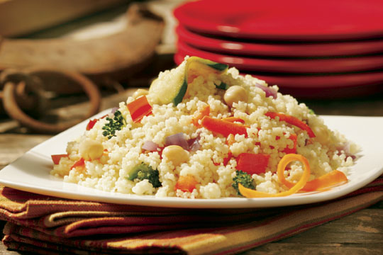 Curried Vegetables over Couscous