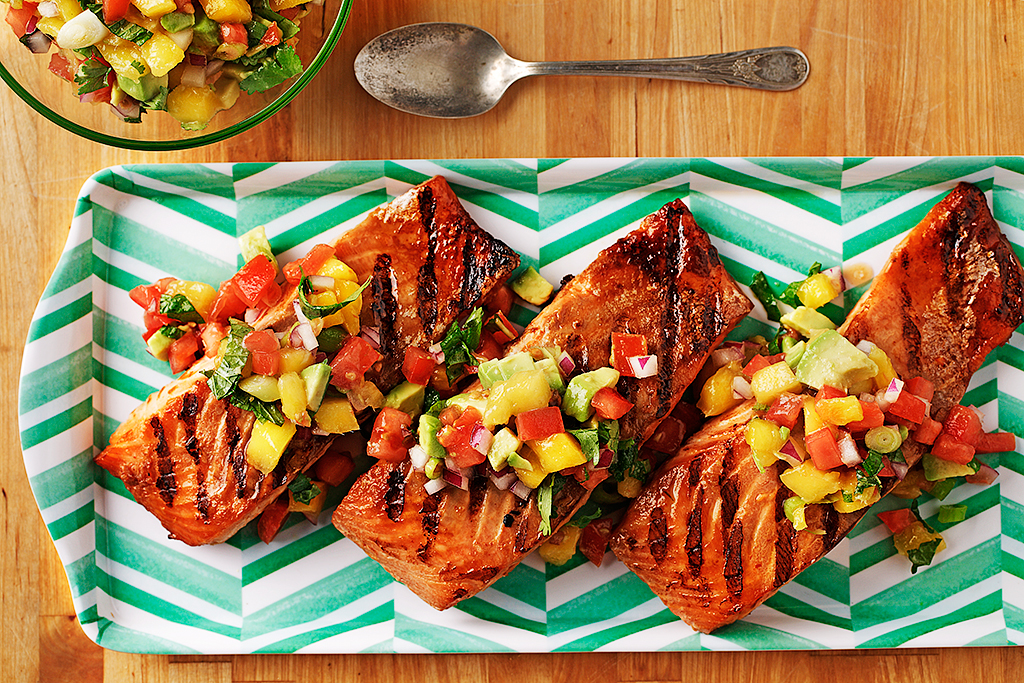 Fusion Grilled Salmon With Fruit Salsa Eat Well