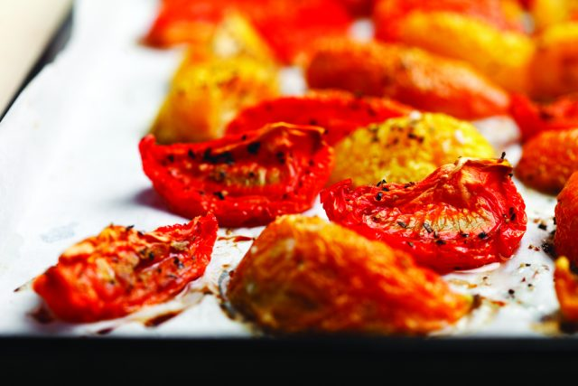 Slow Roasted Local Tomatoes