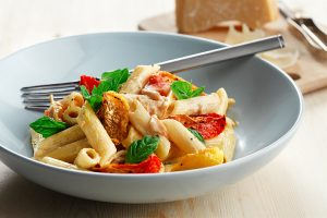 Slow Roasted Local Tomatoes Penne Pasta