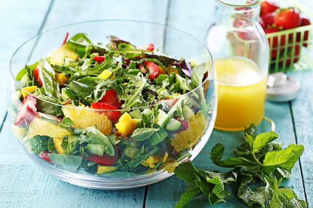 Strawberry Mango Mint Salad
