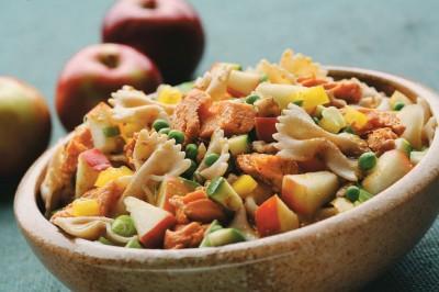 Warm Salmon Pasta Salad