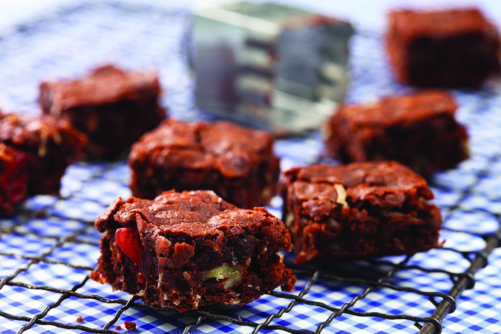 Coconut Cherry Brownies