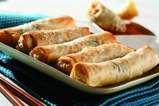 Phyllo Pastry Spring Rolls with Pork and Asian-Style Seasoning