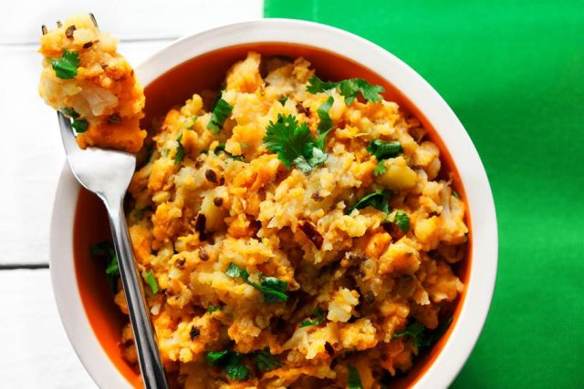 Root Vegetable Mash with Coriander