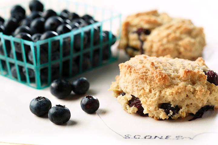 Gluten Free Lemon Blueberry Scones