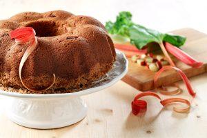Gluten Free Rhubarb Coffee Cake
