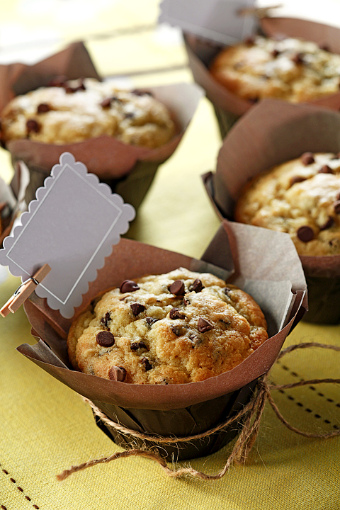 Gluten Free Sour Cream Chocolate Chip Muffins