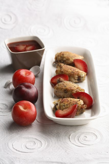 Grilled Chicken Thighs with Sweet Plum Sauce