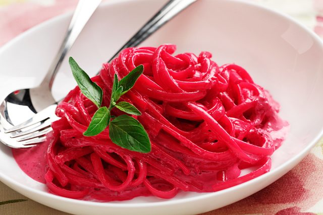 Beet Pesto Cream Linguini