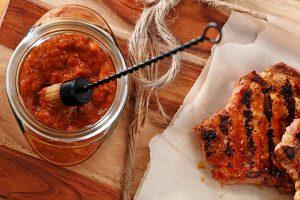 Rhubarb BBQ Sauce|www.canolaeatwell.com