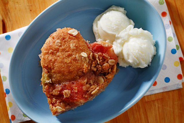 Rhubarb Ribbon Coffee Cake