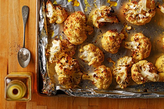 Roasted Cauliflower with Cold Pressed Canola Oil