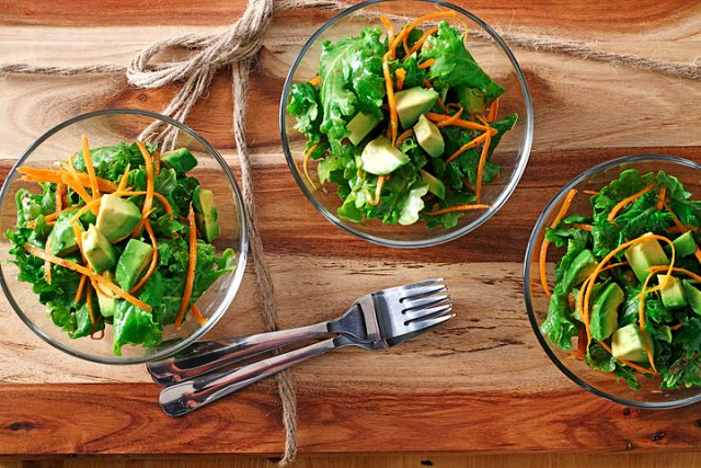 Wilted Kale Salad with Warm Vinaigrette