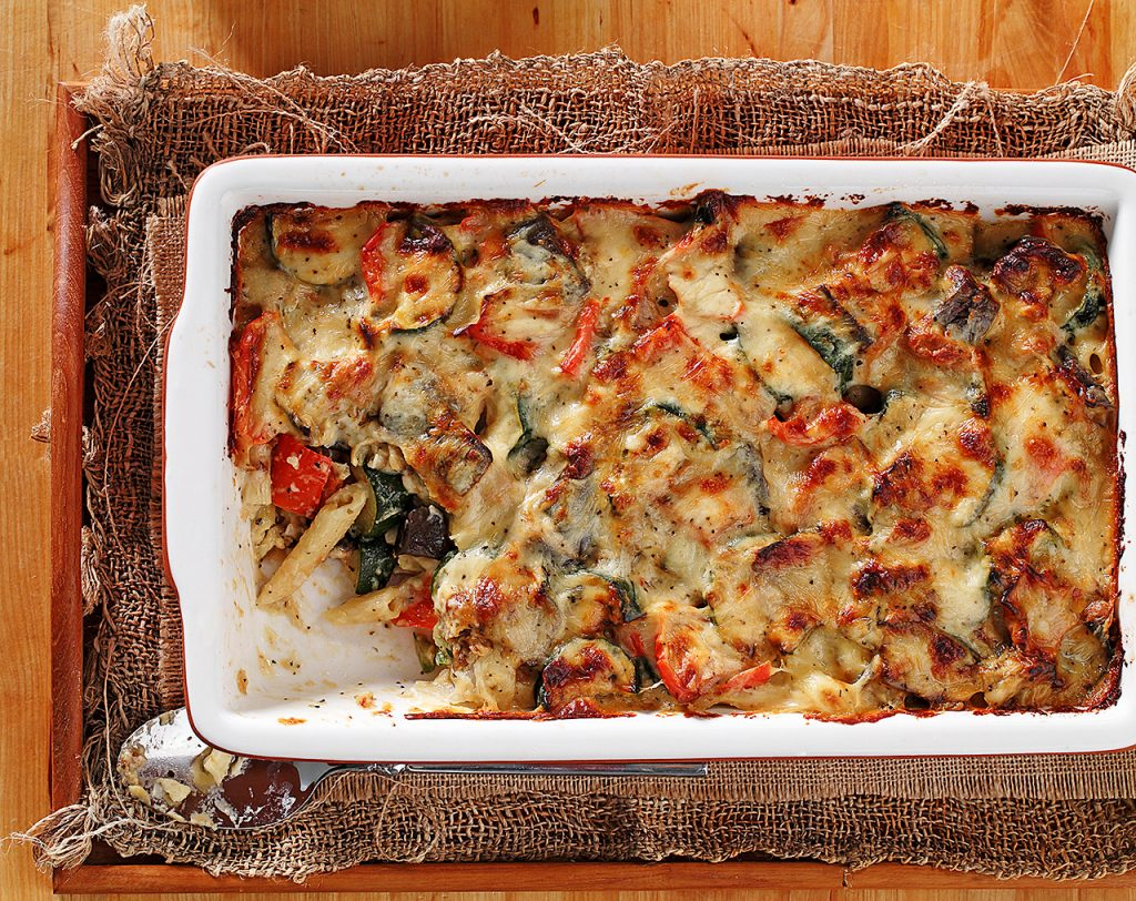 Roasted Vegetables and Pasta Bake