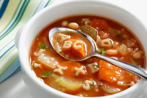 ABC Delicious, Effortless, Fun, Good, Hearty IJKL Minestrone Soup