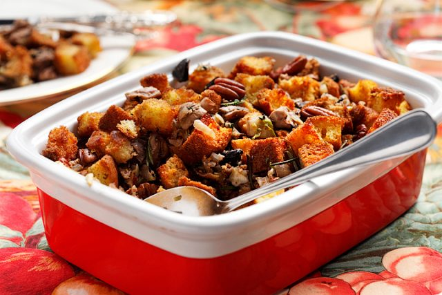 Cornbread and Mixed Mushroom Stuffing