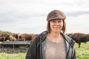 Dr. Cami Ryan with Bison | www.canolaeatwell.com