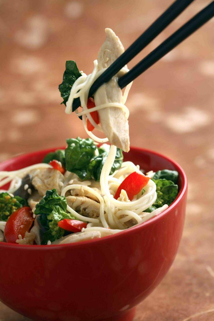 Chicken and Mushroom Stir-Fry with Bok Choy