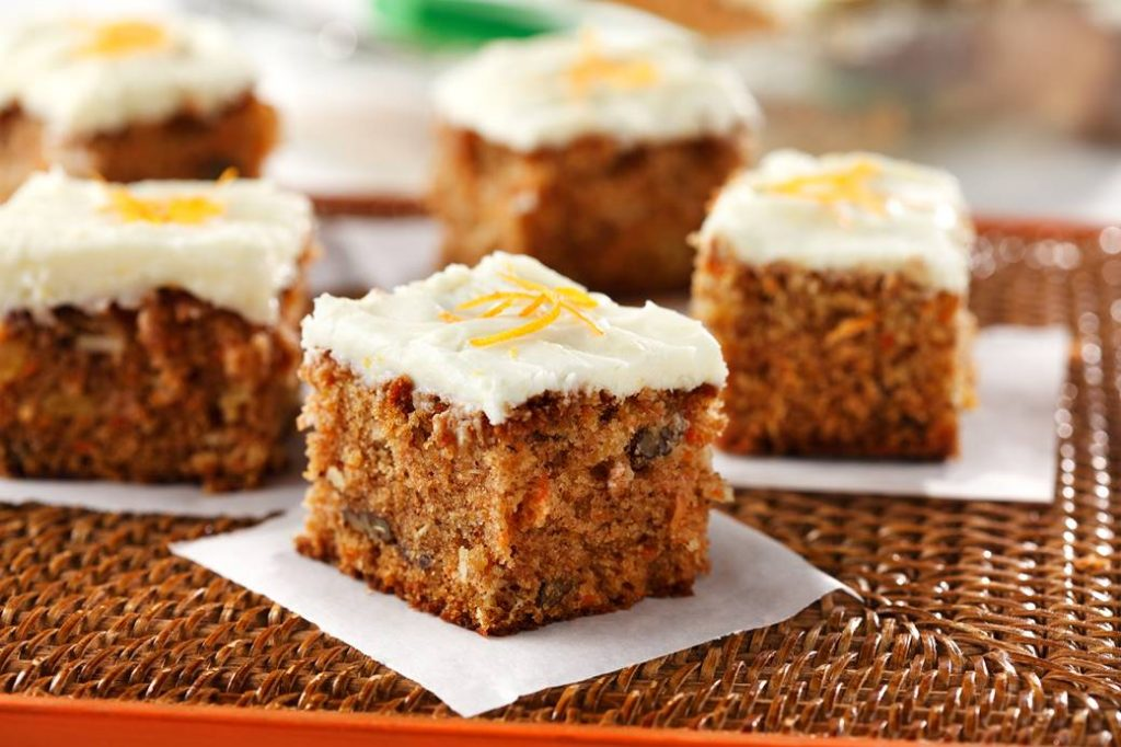 Carrot Cake with Cream Cheese Icing| www.canolaeatwell.com